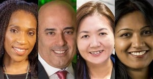 Jury chairs for the Warc Awards for Media 2021. Rajoielle Register, Ron Amram, Siew Ting Foo and Sarita Rao.