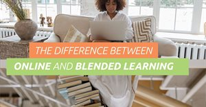 The difference between blended and online learning