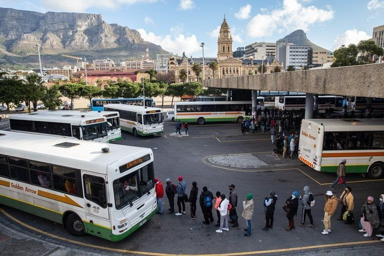 Commuters wait for a bus at the Cape Town central station. Archive photo: Ashraf Hendricks - Photojournalist and Contributor to .