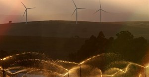 Turbines on a wind farm outside Caledon near Cape Town, South Africa. Photo by Nardus Engelbrecht/Gallo Images/Getty Images