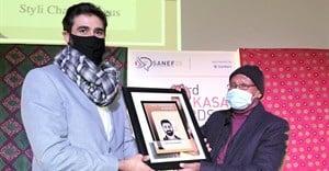 Styli Charalambous, the CEO and cofounder of Daily Maverick was awarded the Nat Nakasa Award for 2021.
