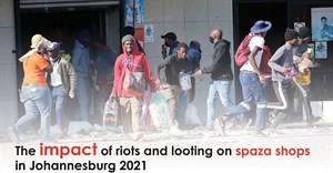 The impact of riots and looting on spaza shops in Johannesburg 2021
