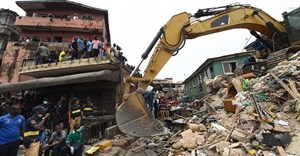 Building collapses in Lagos are a frequent occurence. US UTOMI EKPEI/AFP via Getty Images