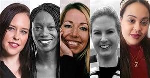 Lauren Rheeders, Bonolo Diseko, Leigh Harris, Kim Stewart, and Juanita Parkins.