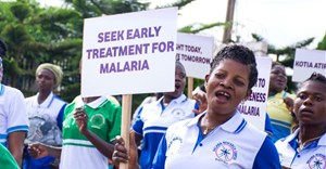 Source: ©The Global Fund. A march through Agogo town in Ghana to educate citizens on malaria