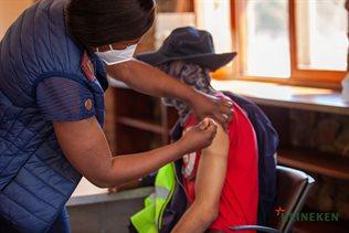 Employees being vaccinated at Heineken Sedibeng Brewery