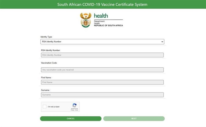Digital Covid-19 vaccine certificates launch in South Africa