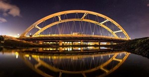 SA's first transverse launch of concrete tied-arch bridge complete