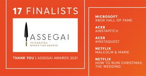 Clockwork delivers integrated marketing excellence with 17 finalists in the Assegai Awards 2021