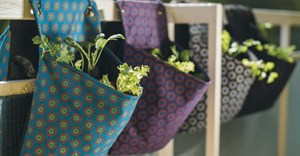 Source: ©Reel Gardening. Reel Gardening's planting bags handmade from traditional South African ShweShwe fabric