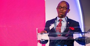 Vusi Fele, chief procurement officer for Absa, at the 2019 Absa Business Day Supplier Development Awards. Source: