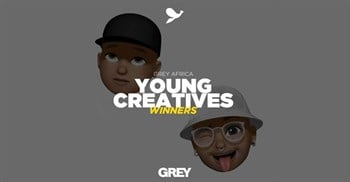 Loeries 2021 Young Creatives Awards for two Grey rising stars