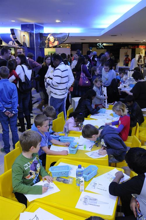 Cresta Shopping Centre - colouring in area