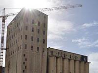 The silo precinct under construction