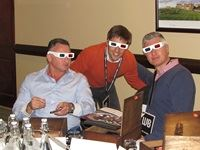 Kevin Jacobson (MTN), Luis Olivares (BBC) and Wayne Bischoff (Habari Media) sporting their 3D glasses