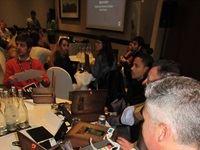 Wayne Bischoff (Habari Media) unpacking his Tuongee gift