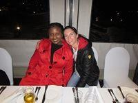 Zione Akule (Habari Media) and Lindy Rudman (Cyberkinetics)