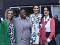 Sune Kotze from Rooi Rose; The Maslow's Public Relations manager, Keletso Kowa; Miss South Africa 2014, Rolene Strauss, and Dejane Poil, Caxton Magazines: Print Group Marketing Manager. - The Maslow's Afternoon Tea launch