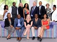 Top: Left to right- Nolusindiso Phenya, Brian Sibanda, Jill Hamilton, Sinqobile Ngcobo, Jim Donaldson, Jerry Sawyer, Linda Weaver, Koketso Phala. Bottom: Left to right- Precious Nkabinde, David Maila, Beth Laffin, Musa Stachan and Zamansele Mhlambi