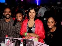 Omesh and Rashme Mahabeer were among the guests invited by Emperors Palace to attend the annual PinkDrive Pink Tie Dinner. With them is two of the resort and casino's executive hosts, Gaba Moholo and Valencia de Jager of Reiger Park.
