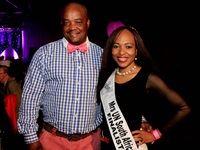 Mrs UN South Africa Finalist, Tebogo Modjadji-Kekana and her dapper husband, sporting his pink tie, William Kekana