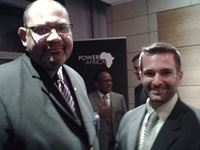 Teddy Taylor (US Consul General - Cape Town) and Mike Calvert (US Department of Commerce)