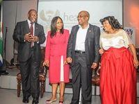 Deputy President Cyril Ramaphosa, MEC Qedani Mahlangu, Minister of Health Aaron Motsoaledi, Lebo Ramafoko (CEO of SCI)