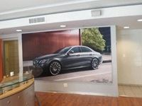 Frames and fabric prints- Mercedes dealership rebranding by Clarion