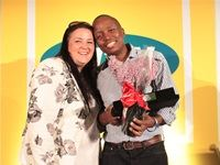 Celia Collins Carat and Wanele Mngomezulu - MOST Media Owner Rising Star