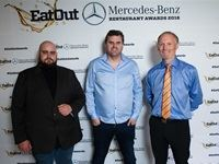 Eat Out Retail Capital New Restaurant of the Year - Glen Williams and Scot Kirton of Foxcroft with Karl Westvig of Retail Capital