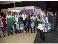 """Premier of the Western Cape - Helen Zille attending the FutureMe - World of Work (WoW) festival, addressing the children with her powerful speech: """"every opportunity you use, and you use well, opens the door to the next opportunity."""" – Helen Zille"""
