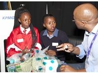 Children eager to learn more about the world of world at the KPMG stand, FutureMe - World of Work (WoW) festival on Friday, 25 November 2016