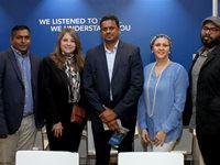 From left to right:  Imraan Mohamed, Leigh-Ann Thomas, Selvan Moodley, Lauren Kolia and Kamarlasen Padayachee