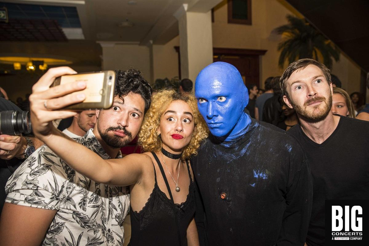 Opening night for Blue Man Group - Cape Town