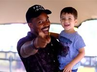 Majozi with one of his younger fans