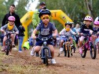 The start of the kiddies race