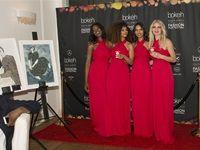 Bokeh Hostesses dressed by Bibi Rouge