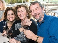Caroline van Schalkwyk with Tracy and Massimo Orione
