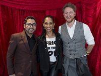 Dale Simpson ( RED Curator) with Craig Jacobs ( Sunday times Lifestyle write & Designer) and Melanie Bala ( Metro FM presenter)