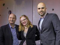 Leah van Deventer, KWV's CEO Boyce Llody, Nuno Fernandes