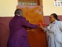 Conlog presents Malefo Secondary School with science laboratory