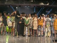 David Tlale's Mandela collection at AFI Joburg Fashion Week