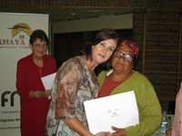 Theewaterskloof Mayor Christel Vosloo hands out title deeds in Grabouw