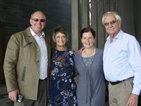 Johann Kotzé of SA Pork with Sally Bosman, Hanli Kotzé and Francois Bosman