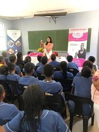 Famram Solutions hands over PrincessD Menstrual Cups at Spearman Primary School
