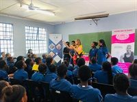 Famram Solutions hands over PrincessD Menstrual Cups at Spearman Primary School