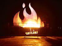 The #600 Flames fire celebratrion gnites