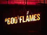 The #600 Flames fire ignitor gets going