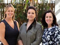 Sharon Sheldon, Natalie Brock and Jenny Handley