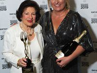 Eat Out Lannice Snyman Lifetime Achievement Award winner Annette Kesler with Tamsin Snyman